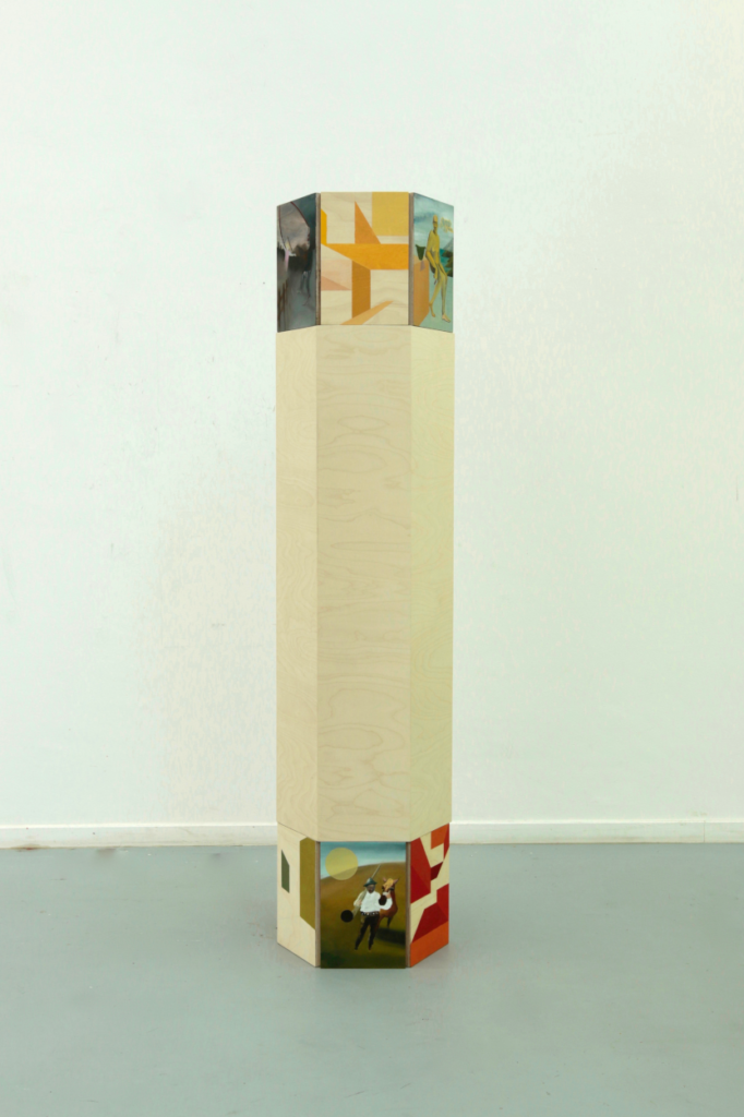 Säule, 2017, 60x60x180cm, oil on wood