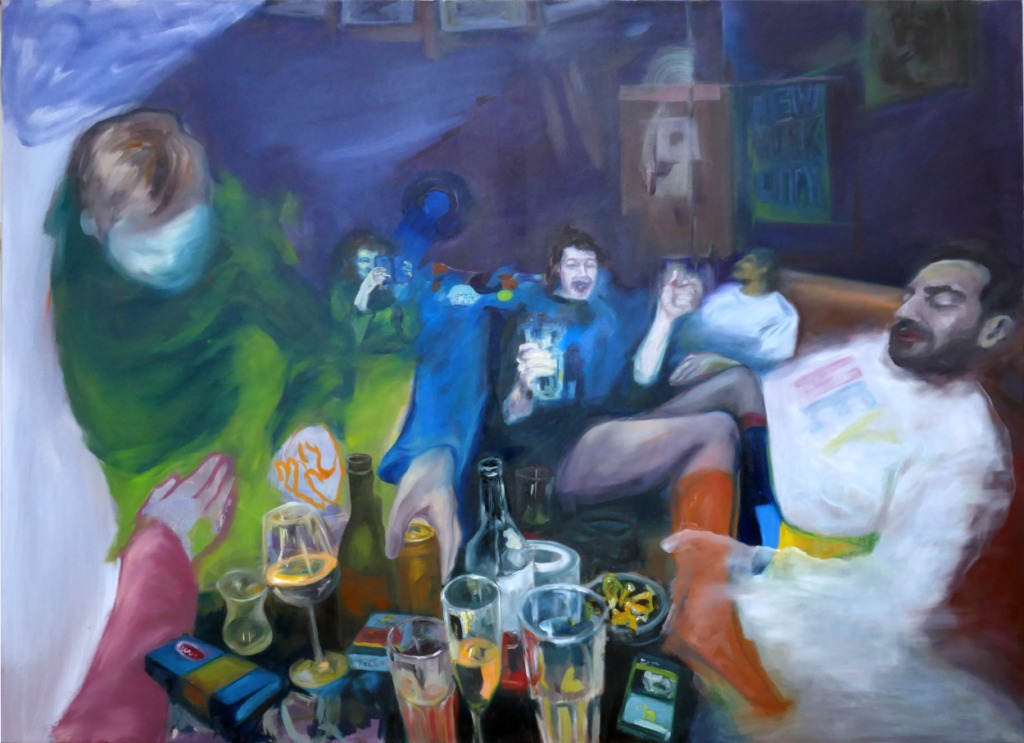 blurred memories, 2020, 160x120cm, oil on canvas