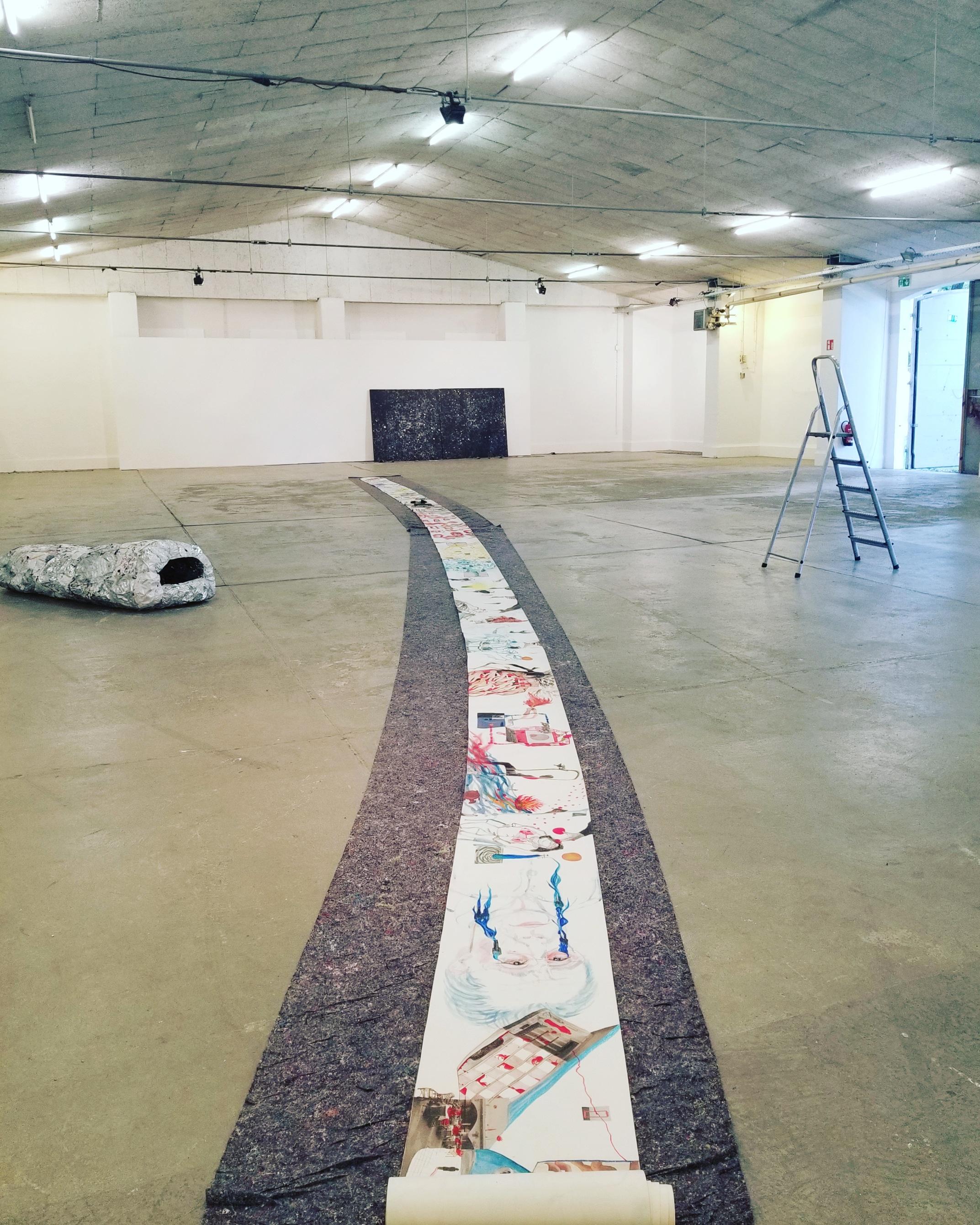 Ohne Titel, 2019-2020, Umfassende Materialien auf Papier,30m×45cm